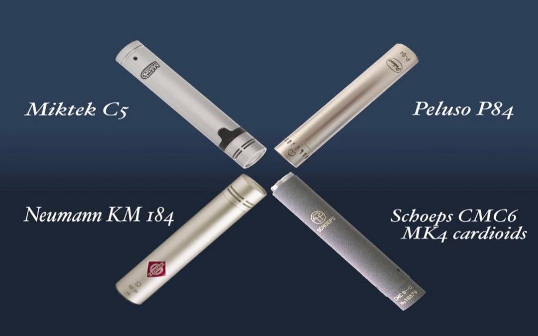 SDC Drum Overhead Shootout: Miktek C5 vs. Schoeps CMC6 vs. Neumann KM184 vs. Peluso P84