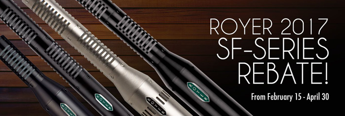 Royer 2017 SF-Series Rebate!