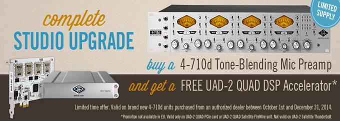 UA 4-710D + FREE UAD2 card!