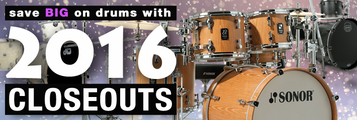 2016 Drum Closeouts!