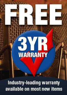 Free 3-Year Warranty
