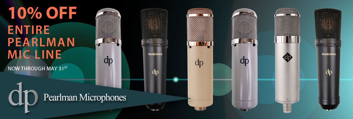 10% Off Pearlman Mics in May