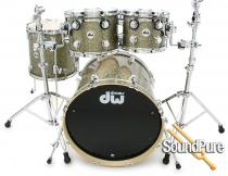 DW 4pc Collectors Series Maple Gold Galaxy Maple Drum Set