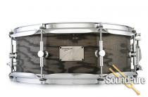Canopus 5.5x14 Ash Snare Drum-Blackish Ash Oil