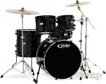 PDP Mainstage 5-piece Drum Set with Cymbals - Black Metal