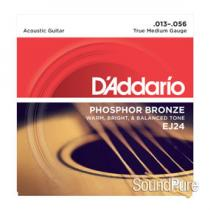D'Addario EJ24 Phosphor Bronze Medium 13-56 Acoustic Strings