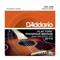 D'Addario EFT13 Medium 16-56 Flattop Resophonic Strings