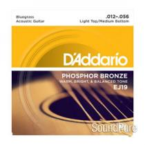 D'Addario EJ19 Phosphor Bronze Bluegrass 12-56 Acoustic Set