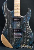Tyler Studio Elite P90 Black & Blue Schmear Guitar - Used