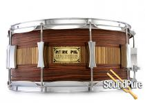 Pork Pie 6.5x14 Maple Snare Drum-Rosewood/Zebrawood  Veneer