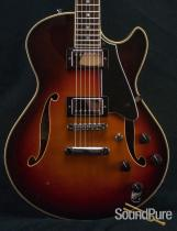 Comins GCS-1ES Autumn Burst Semi-Hollow Guitar 2078