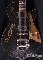 Duesenberg Starplayer TV Black Sparkle Electric Guitar 1014