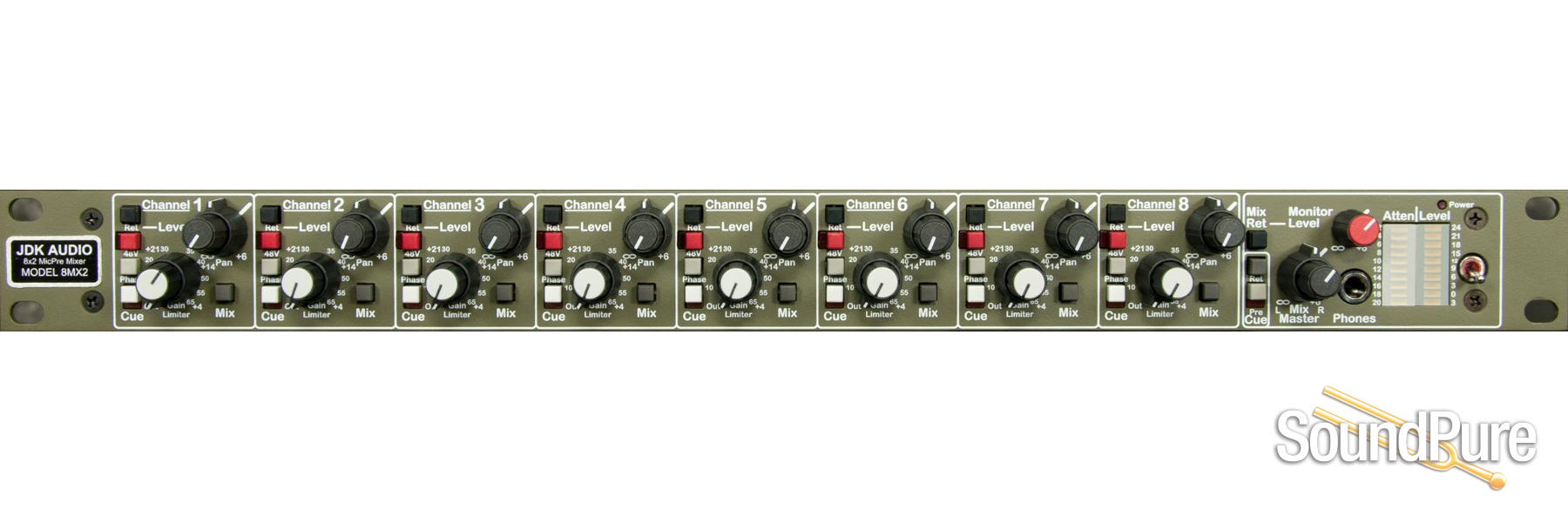 Api Audio Ati 8mx2 Micpre Mixer Dynamic Mic Preamplifier 8 Channel Preamp Perfect For Capturing Live Events In Stereo