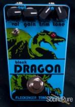 Flickinger Black Dragon Distortion Pedal - Blue