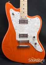 Tuttle Custom Classic Baritone Trans Orange Electric Guitar