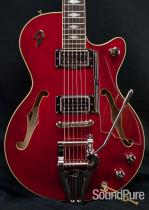 Duesenberg DTV Deluxe Crimson-Red Semi-Hollow Guitar