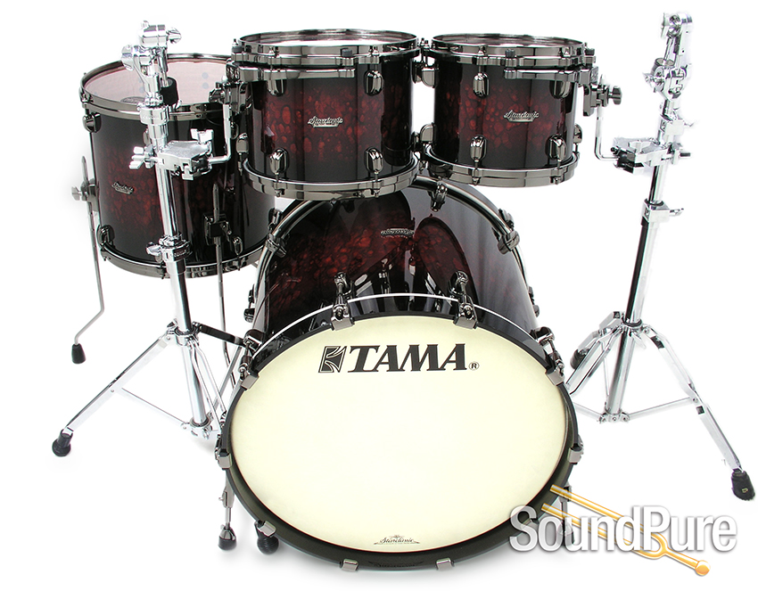 Tama 4pc Starclassic Bubinga Drum Set Volcanic Red Burst