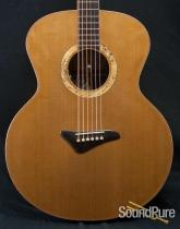 Kingslight Macassar Ebony/AAA Cedar Baritone Acoustic - Used