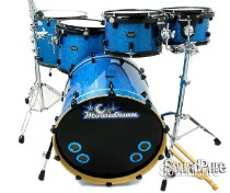 Moondrum & Phattie 6pc Custom Maple Drum Set OCDP Lugs-Blue