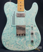 Trussart 2011 Seafoam Green Paisley Steelcaster Guitar- Used