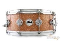 DW 5.5x14 Collectors Series Maple Snare Drum-Champagne Glass