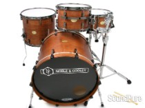 Noble & Cooley 3pc CD Maple Drum Set-Honey Maple Satin/Black