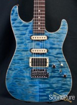 Anderson Drop Top Pacific Blue Quilt Top Guitar 01-23-15P