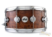 DW 6.5x14 Collectors Exotic Series Maple Snare Drum-Pommele Demo/Open Box