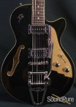 Duesenberg Starplayer TV Black Semi-Hollow Electric Guitar