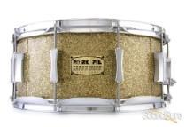 Pork Pie 6.5x14 Maple Snare Drum-Ginger Glass Glitter