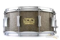Pork Pie 6.5x14 Maple Snare Drum-Gunmetal Glass Glitter