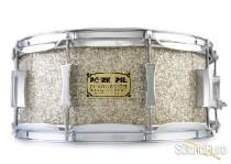 Pork Pie 6x14 Maple Snare Drum-Silver Glass Glitter