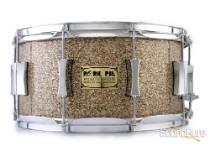 Pork Pie 6.5x14 Maple Snare Drum-Cymbal Bits Glitter