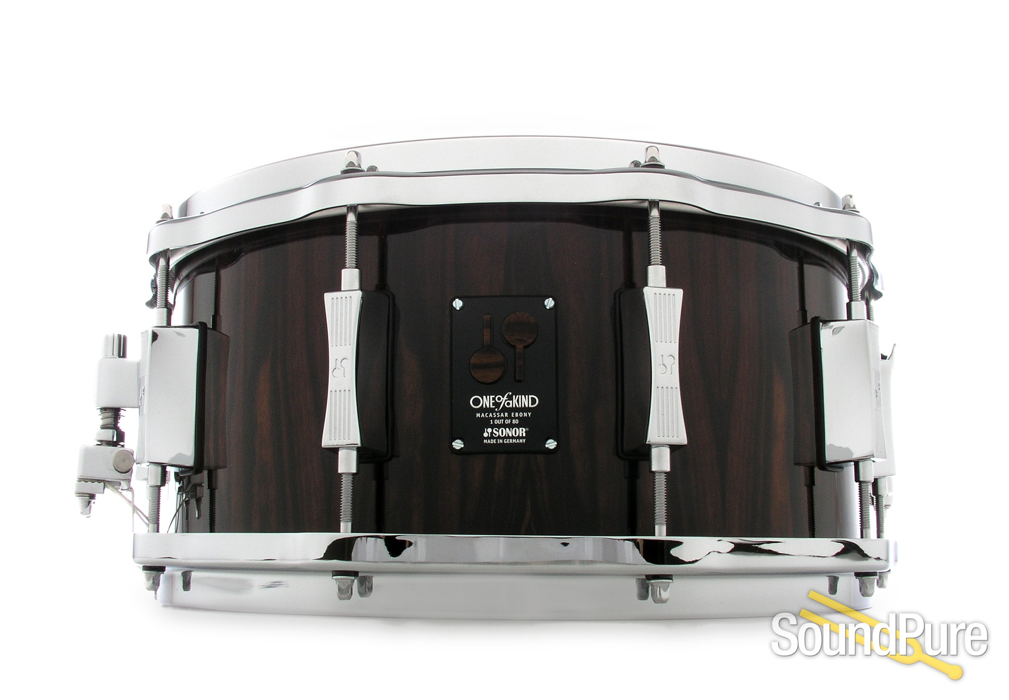 Sonor 6.5x14 One Of A Kind Snare Drum - Macassar Ebony