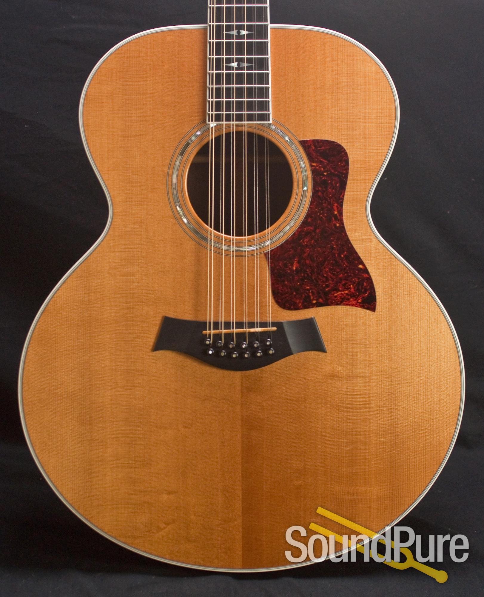 taylor 855e 12 string jumbo acoustic guitar 1996 used used. Black Bedroom Furniture Sets. Home Design Ideas