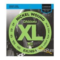 D'Addario EXL165-5 45-135 5 String Bass Set