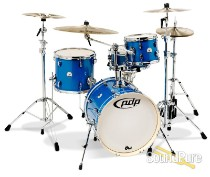 PDP 4pc New Yorker Drum Set-Sapphire Sparkle
