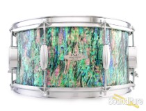 C&C Drums Custom 7.25x14 Snare Drum-Black Paua Abalone