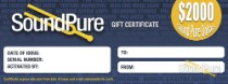 Sound Pure $2000 Gift Certificate