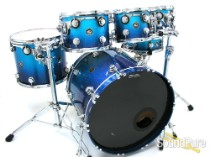 DW 6pc Collectors Series Maple Drum Set-Blue Sparkle Fade