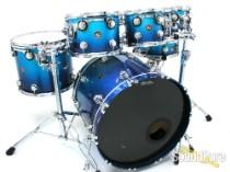 DW 6pc Collectors Series Maple Drum Set-Blue Sparkle Fade