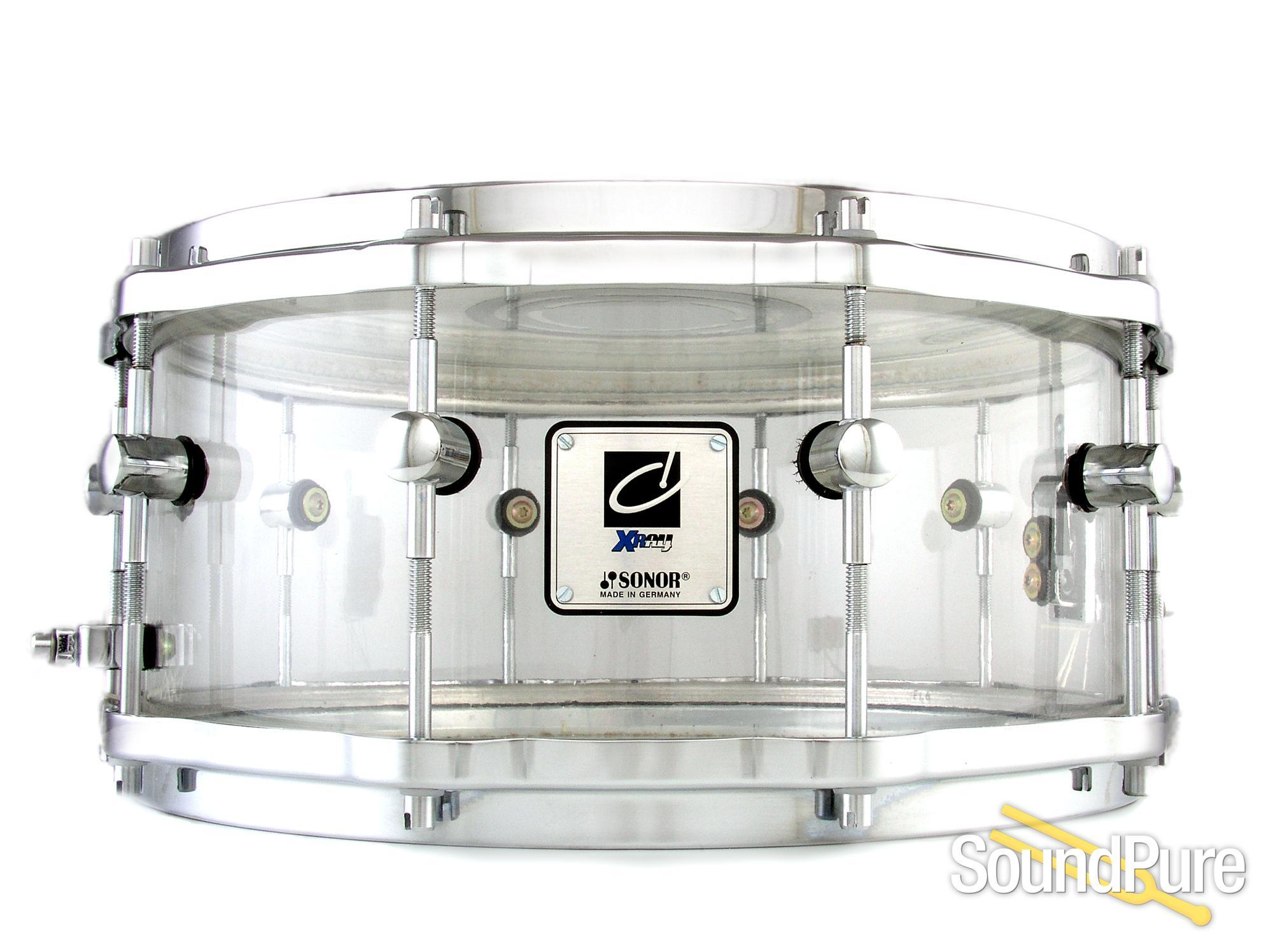 Sonor 6x14 Designer X Ray Snare Drum W/ Die Cast Hoops