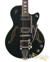 Duesenberg DTV Deluxe Black Semi-Hollow Guitar #150850