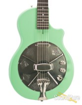 National Res-O-Tone Sea Foam Green Electric Resonator #20558