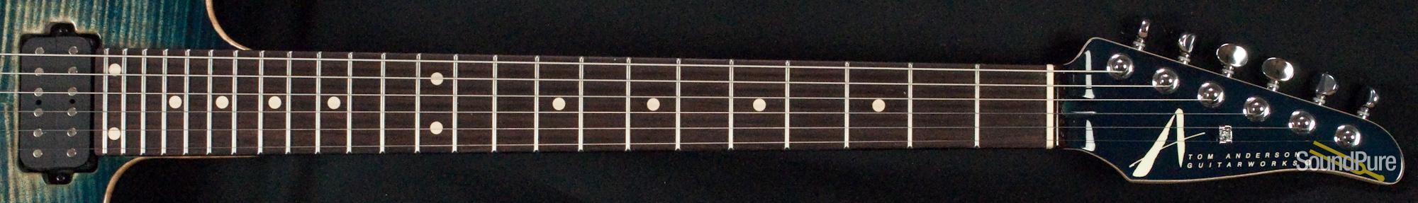 Anderson Angel Arctic Blue Burst W/ Binding Electric Guitar