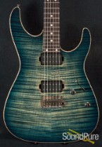Anderson Angel Arctic Blue Burst w/ Binding Electric Guitar