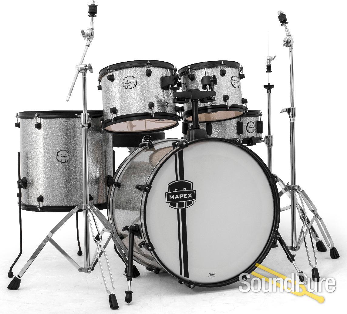 Mapex Voyager 5pc Rock Drum Set Crystal Sparkle | Soundpure com