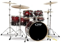 PDP Concept Maple 6pc Shell Pack Red To Black Fade