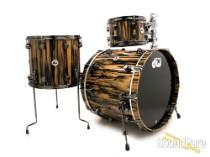 DW 3pc Collectors Exotic Series Drum Set-Royal Ebony