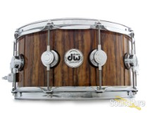 DW 6.5x14 Collectors Exotic  Maple Snare Drum-Tropical Olive Demo/Open Box